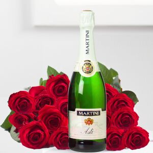 15 roses added to Sparkling Wine